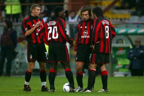 Pirlo would form one of Milan's best midfields along with Seedorf and Gattuso